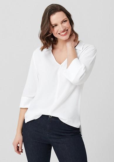 Lange blouse met 3/4-mouwen