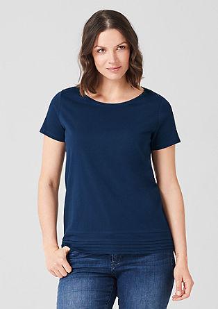 Jerseyshirt mit Layer-Detail