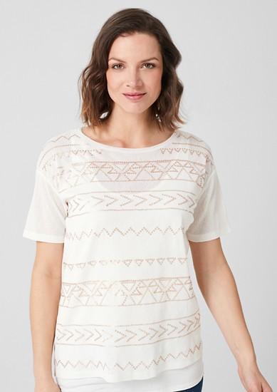Gelaagd shirt met motief van pailletjes