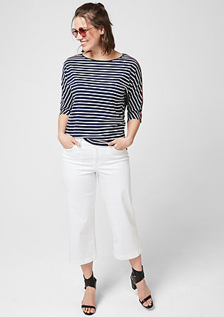 Striped top with decorative tape  from s.Oliver