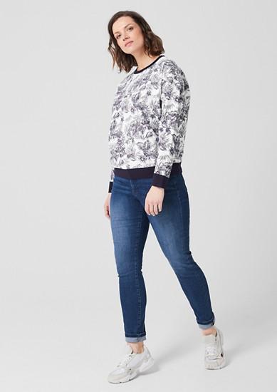 Sweatshirt met motiefprint