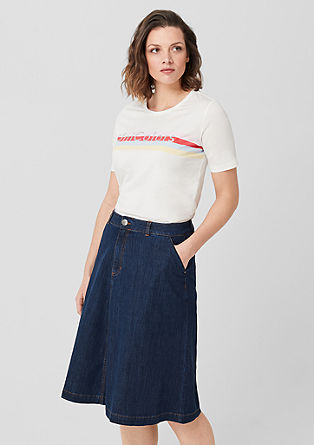 Denim skirt with pockets from s.Oliver
