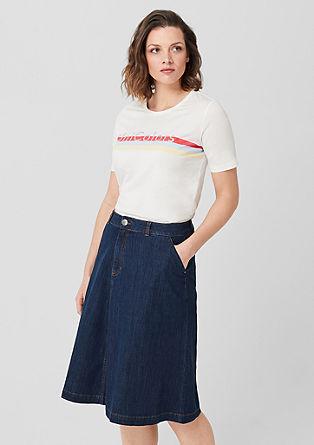 Jeans krilo z žepi