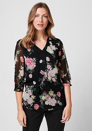 Chiffon shirt met bloemenprint