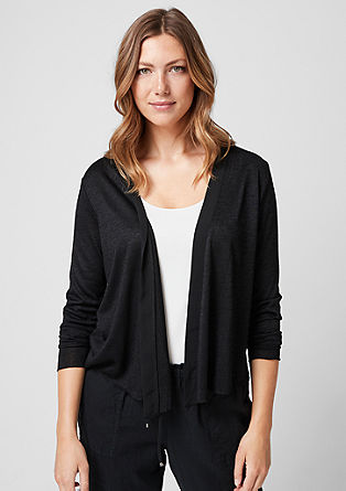 Jersey vest met chiffon detail