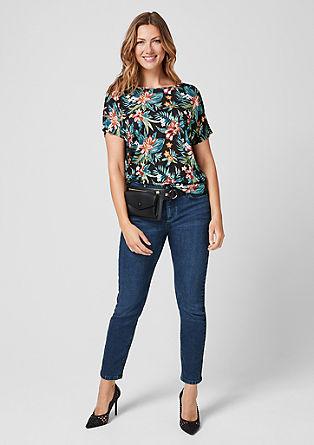 Jersey shirt met print all-over