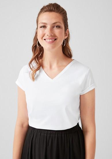 Jerseyshirt mit V-Neck
