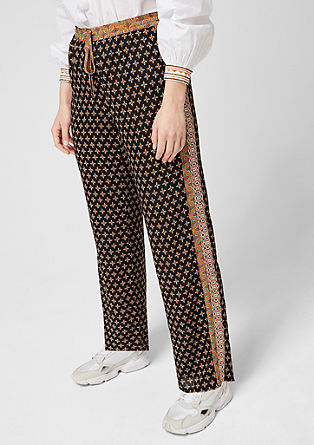 Mixed pattern cloth trousers from s.Oliver