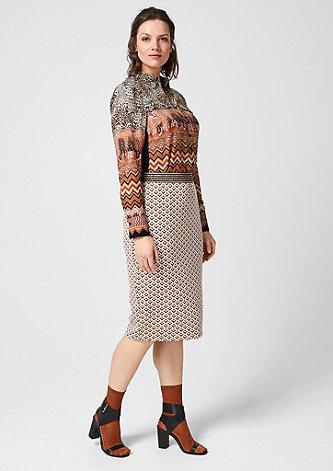 Pencil Skirt mit Jacquard-Muster