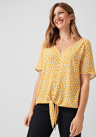 Patterned blouse with a knotted detail from s.Oliver