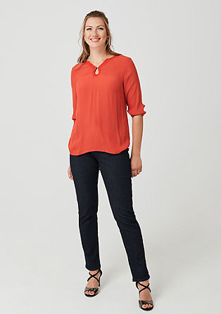 Blouse top with an embroidered detail from s.Oliver