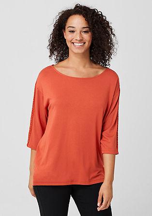 Jerseyshirt mit Zierbordüre