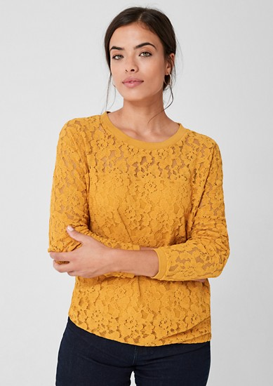 Long sleeve top made of lace from s.Oliver