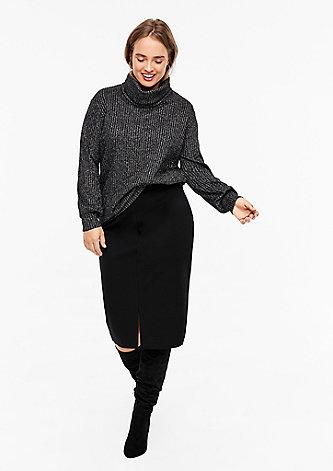 Pencil Skirt aus Interlock-Jersey