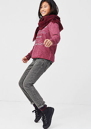 Suri: Jeans mit Waben-Muster