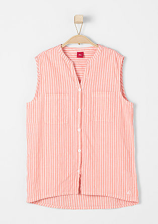 Mouwloze blouse met patroon