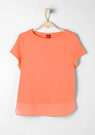 T-shirt with a blouse hem from s.Oliver