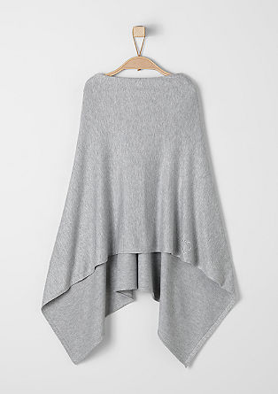 Fine knit poncho in blended viscose from s.Oliver