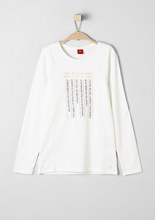 Langarmshirt mit Statement-Print