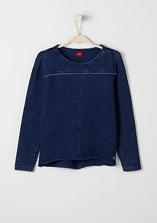Garment-dyed sweatshirt from s.Oliver