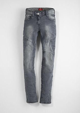 Suri: Used-Jeans in Biker-Look