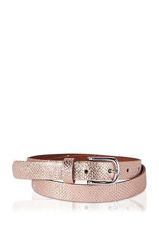 Leather belt with a metallic effect from s.Oliver