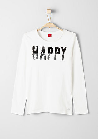 Long sleeve top with sparkly lettering from s.Oliver