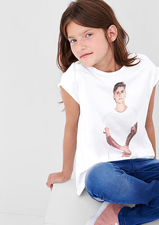 Shirt mit Justin Bieber-Print