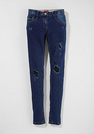 Skinny Suri: Destroyed-Jeans