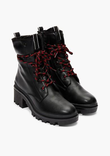 Boots à lacets et détails vernis de s.Oliver