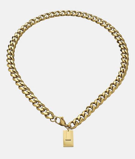 Chunky Chain mit Logoanhänger