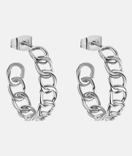 breite Creolen im Chunky Chain Stil