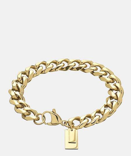 breites Armband mit Logoanhänger