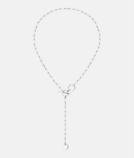 lange Halskette mit T-Bar Verschluss