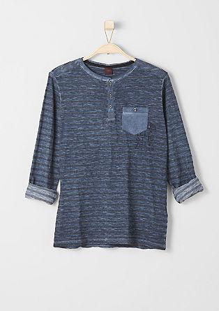Gestreiftes Pigment Dye-Shirt