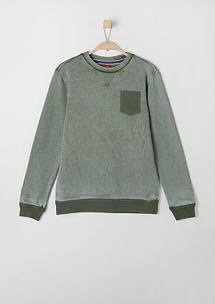 Sweatshirt in a vintage look from s.Oliver