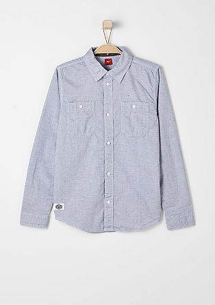 Long sleeve shirt with a mottled effect from s.Oliver
