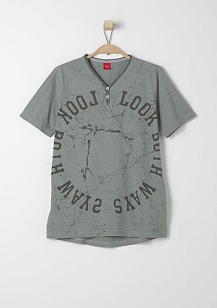 Fein gestreiftes Printshirt