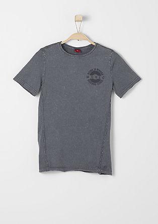 T-Shirt in Wasch-Optik