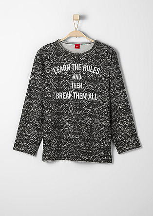 Sweatshirt with printed lettering from s.Oliver