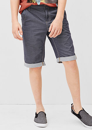 Chino: Bermudas with a pattern from s.Oliver