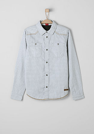 Textured shirt in a slim fit from s.Oliver