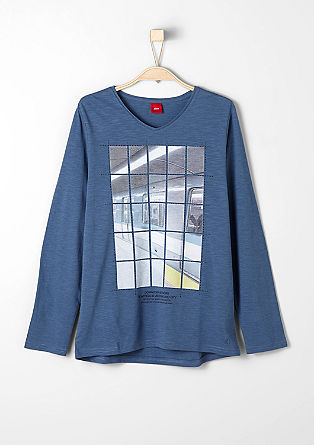 Long sleeve top with a fragmented photo print from s.Oliver