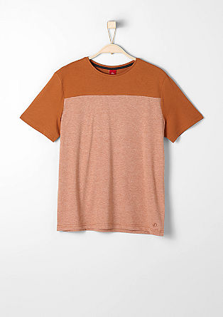 T-shirt with a shoulder yoke from s.Oliver