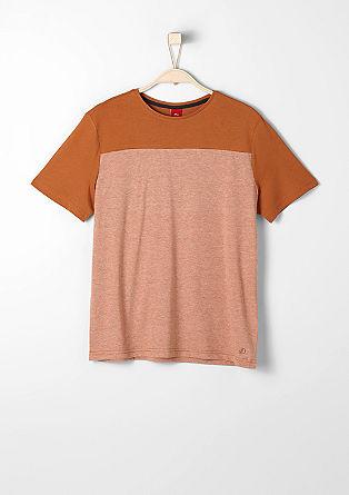 T-Shirt mit Schulterpasse