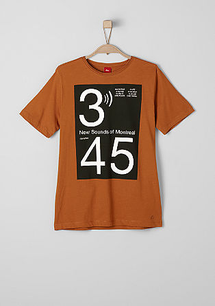 T-shirt with a bold front print from s.Oliver