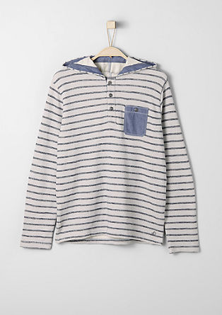 Striped hooded sweatshirt from s.Oliver