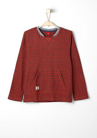 Majica dolg rokav s tkanim vzorcem