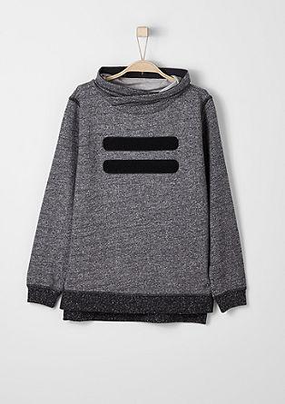 Meliertes Sweatshirt mit Turtleneck
