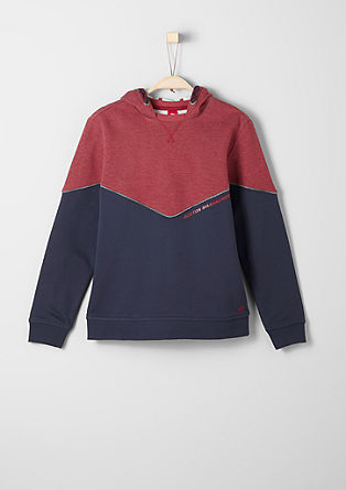 Sporty hooded sweatshirt from s.Oliver